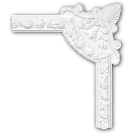 Corner element 152326 Profhome Decorative Element Rococo Baroque style white