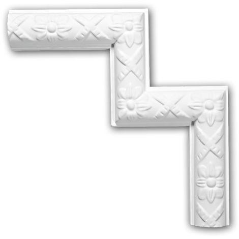 Corner element 152328 Profhome Decorative Element timeless classic design white