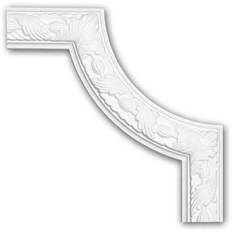 Corner element 152348 Profhome Decorative Element timeless classic design white