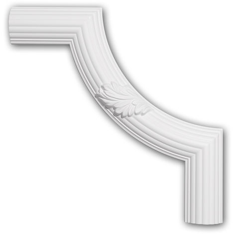 Corner element 152361 Profhome Decorative Element timeless classic design white