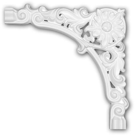 Corner element 152375 Profhome Decorative Element timeless classic design white