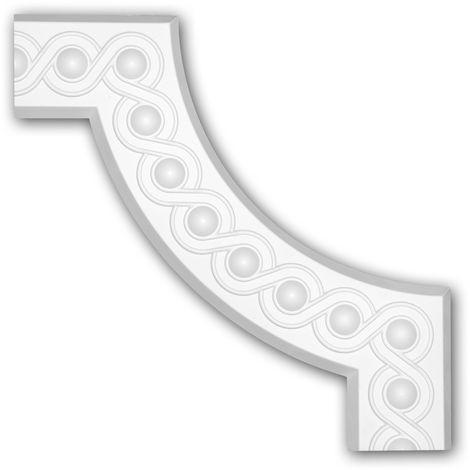 Corner element 152376 Profhome Decorative Element Neo-Classicism style white