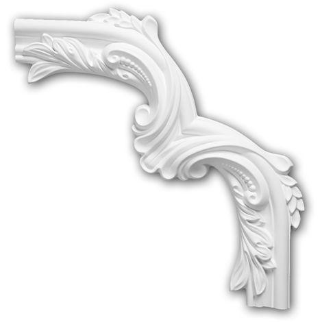 Corner element 152400 Profhome Decorative Element Neo-Classicism style white