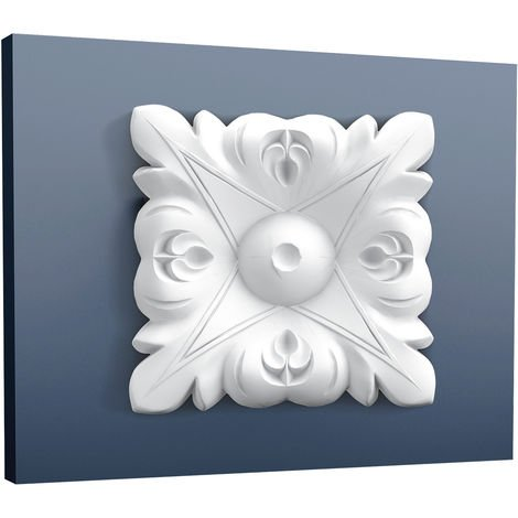 Corner Element Corner Plate quared Orac Decor P21 LUXXUS Stucco decoration element for wall and ceiling Leafs 6 x 6 cm