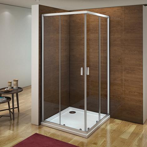 Corner Entry Glass Sliding Shower Enclosure Cubicle Door Screen