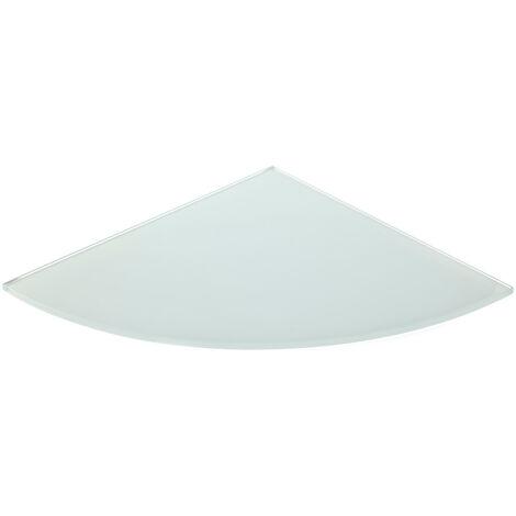 Corner glass shelf in white finish