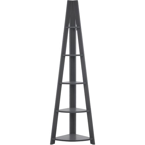 Corner Ladder Shelf Grey MOBILE SOLO