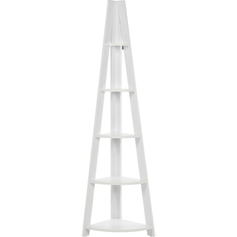 Corner Ladder Shelf White MOBILE SOLO