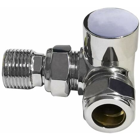 Corner Manual Radiator Valve Towel Rail Radiator Valve 15mm Central Heating Taps Chrome