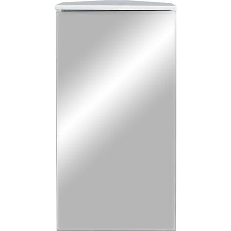 "main image of ""Corner Mirrored Bathroom Cabinet - White"""