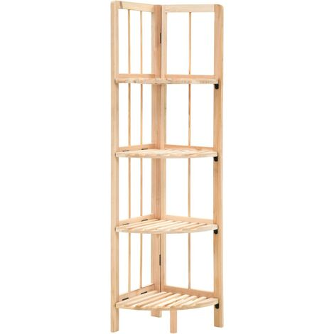 Corner Shelf Cedar Wood 27x27x110 cm