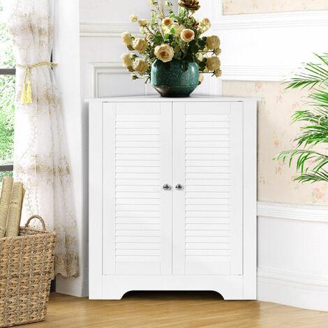 "main image of ""Corner Storage Cabinet Bookcase Bookshelf Display Unit Cupboard Free Standing"""