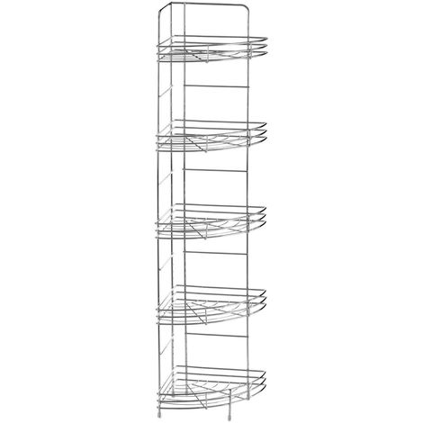 Corner Storage Rack,5 Tier,Chrome