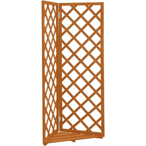 "main image of ""Corner Trellis Planter Orange 50x50x145 cm Solid Firwood"""