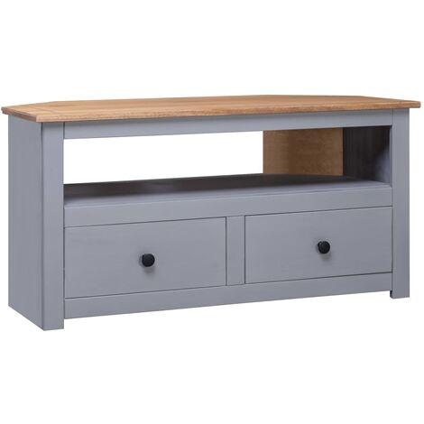 Corner TV Cabinet Grey 93x55x49 cm Solid Pine Panama Range