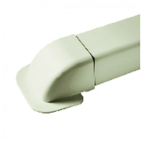 Corner wall elbow for cable duct 60x80