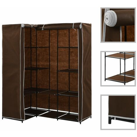 Corner Wardrobe Brown 130x87x169 cm - Brown