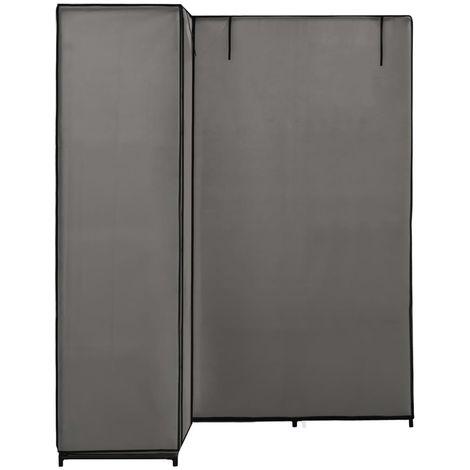 Corner Wardrobe Grey 130x87x169 cm