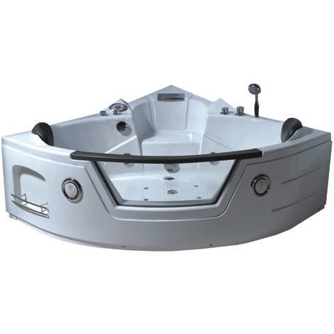 CORNER WHIRLPOOL BATH TUB MODEL MIAMI 135 X 135 cm