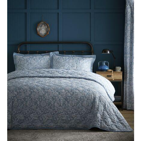 Cornflower Throwover Plus Pillow Shams Set Bedspread Jacquard Blue