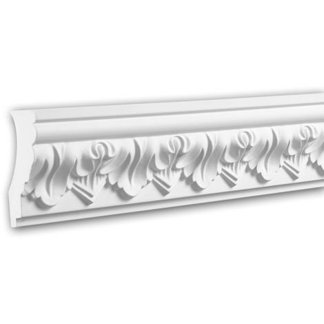 Cornice Moulding 150114 Profhome Decorative Moulding Crown Moulding Coving Cornice timeless classic design white 2 m