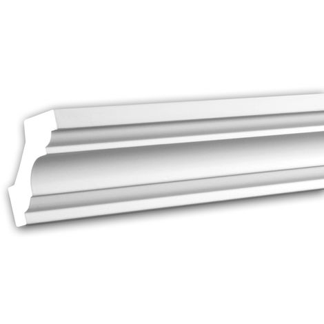 Cornice Moulding 150115 Profhome Decorative Moulding Crown Moulding Coving Cornice Neo-Classicism style white 2 m