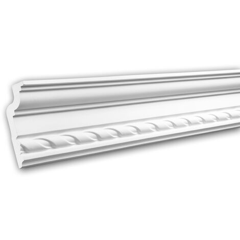 Cornice Moulding 150119F Profhome Flexible Moulding Coving Cornice Crown Moulding Neo-Classicism style white 2 m
