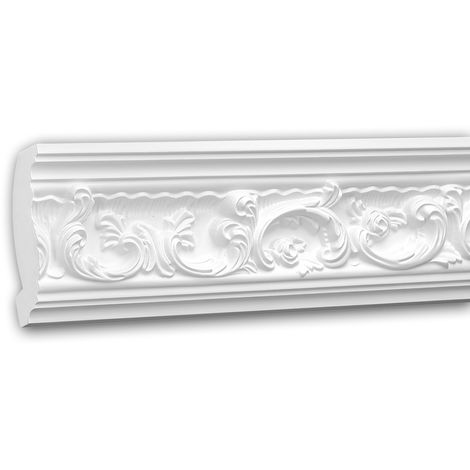 Cornice Moulding 150124 Profhome Decorative Moulding Crown Moulding Coving Cornice Rococo Baroque style white 2 m