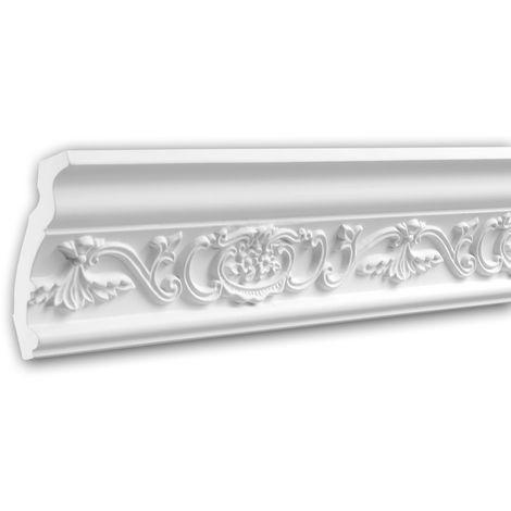 Cornice Moulding 150162 Profhome Decorative Moulding Crown Moulding Coving Cornice Neo-Renaissance style white 2 m