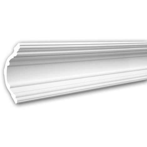 Cornice Moulding 150168 Profhome Decorative Moulding Crown Moulding Coving Cornice Neo-Classicism style white 2 m