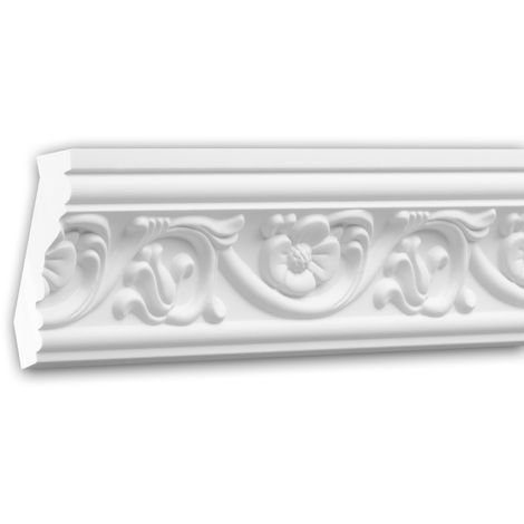 Cornice Moulding 150181 Profhome Decorative Moulding Crown Moulding Coving Cornice timeless classic design white 2 m