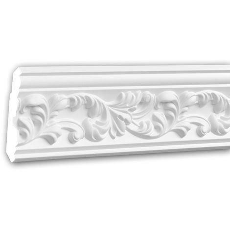 Cornice Moulding 150189 Profhome Decorative Moulding Crown Moulding Coving Cornice Rococo Baroque style white 2 m