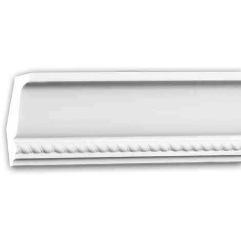 Cornice Moulding 150191 Profhome Decorative Moulding Crown Moulding Coving Cornice Neo-Empire style white 2 m