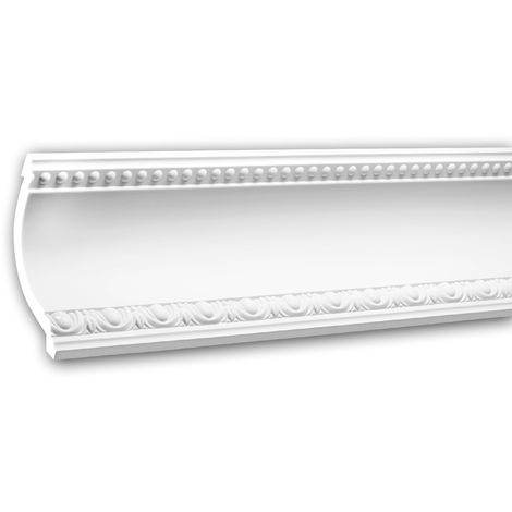 Cornice Moulding 150203 Profhome Decorative Moulding Crown Moulding Coving Cornice Neo-Empire style white 2 m