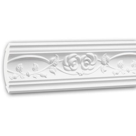 Cornice Moulding 150205 Profhome Decorative Moulding Crown Moulding Coving Cornice Neo-Renaissance style white 2 m
