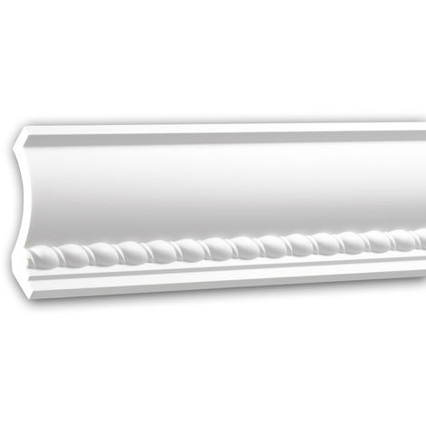 Cornice Moulding 150208 Profhome Uplighter Crown Moulding for Indirect Lighting Coving Cornice Neo-Empire style white 2 m