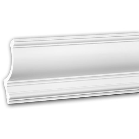 Cornice Moulding 150209 Profhome Uplighter Crown Moulding for Indirect Lighting Coving Cornice Neo-Classicism style white 2 m