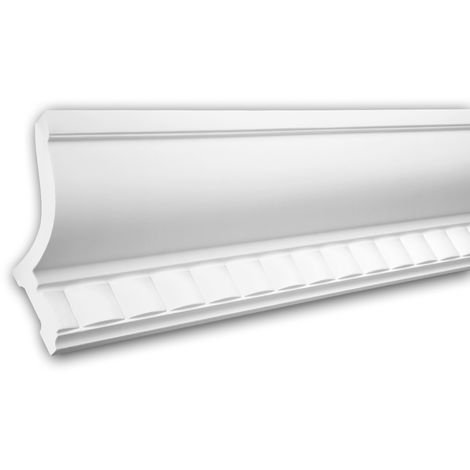 Cornice Moulding 150210 Profhome Uplighter Crown Moulding for Indirect Lighting Coving Cornice Neo-Classicism style white 2 m
