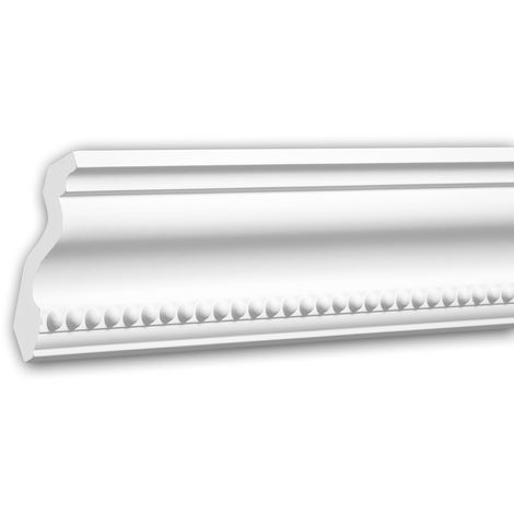 Cornice Moulding 150216 Profhome Uplighter Crown Moulding for Indirect Lighting Coving Cornice Neo-Classicism style white 2 m