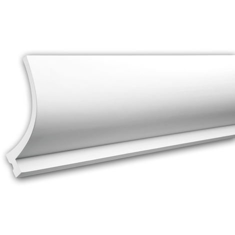 Cornice Moulding 150220 Profhome Uplighter Crown Moulding for Indirect Lighting Coving Cornice timeless classic design white 2 m