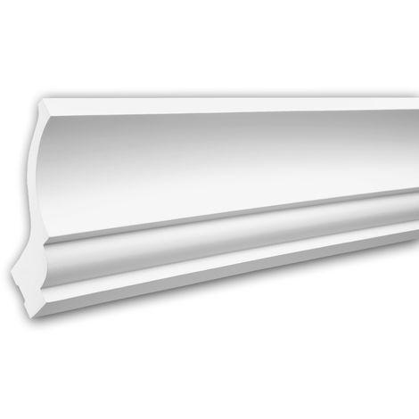 Cornice Moulding 150221 Profhome Uplighter Crown Moulding for Indirect Lighting Coving Cornice Neo-Classicism style white 2 m