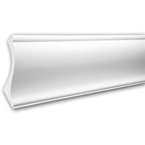 Cornice Moulding 150222 Profhome Uplighter Crown Moulding for Indirect Lighting Coving Cornice timeless classic design white 2 m