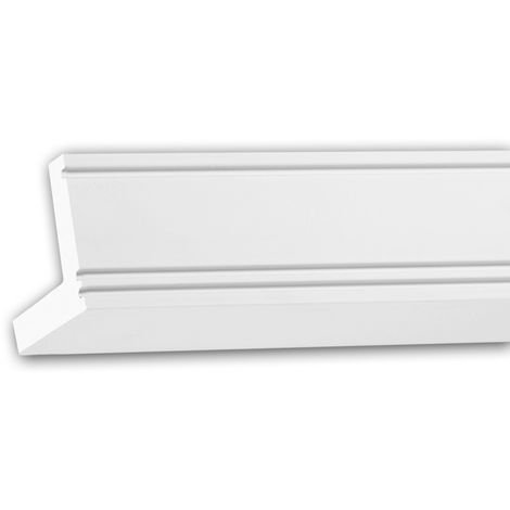 Cornice Moulding 150226 Profhome Uplighter Crown Moulding for Indirect Lighting Coving Cornice contemporary design white 2 m