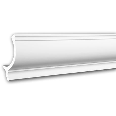 Cornice Moulding 150261 Profhome Uplighter Crown Moulding for Indirect Lighting Coving Cornice Neo-Classicism style white 2 m