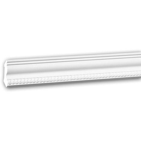 Cornice Moulding 150272 Profhome Decorative Moulding Crown Moulding Coving Cornice Neo-Empire style white 2 m