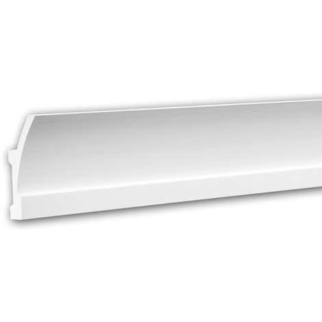 Cornice Moulding 150621 Profhome Uplighter Crown Moulding for Indirect Lighting Coving Cornice contemporary design white 2 m