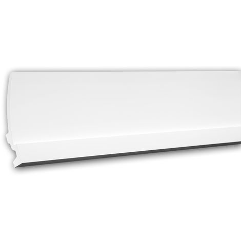 Cornice Moulding 150622 Profhome Uplighter Crown Moulding for Indirect Lighting Coving Cornice contemporary design white 2 m