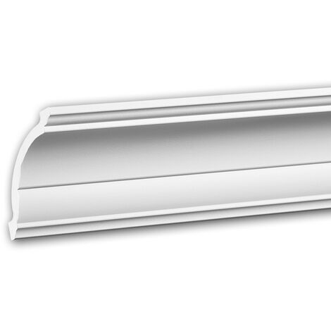 Cornice Moulding 650101 Profhome Decorative Moulding Crown Moulding Coving Cornice Neo-Classicism style white 2 m