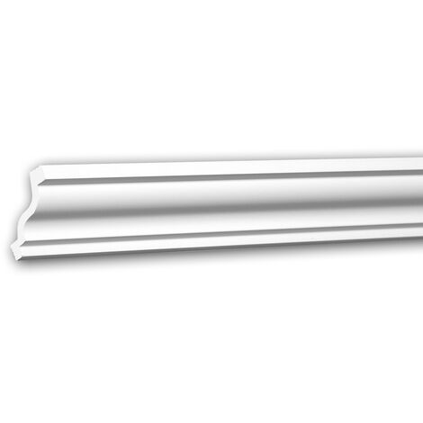 Cornice Moulding 650103 Profhome Decorative Moulding Crown Moulding Coving Cornice Neo-Classicism style white 2 m