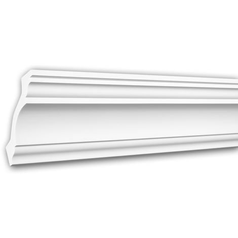 Cornice Moulding 650113 Profhome Decorative Moulding Crown Moulding Coving Cornice Neo-Classicism style white 2 m